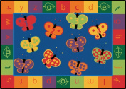 Carpets For Kids 3515 123 ABC Butterfly Fun 5. 13m x 0m x 7. 13m x 0m Rectangle Rug
