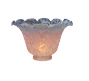 Meyda Tiffany 10731 15.2cm . W Fluted Bell Pink And Blue Shade