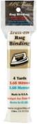 M C G Textiles 245001 Iron-On Rug Binding 3.2cm . x 4 Yards-White