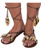 Forum Novelties 62906F Womens Stone Age Style Sandals