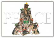 Pipsqueak Productions C562 German Shepherd Holiday Boxed Cards