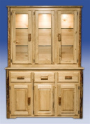 Montana Woodworks MWGCCHLD Glacier Country China Hutch with Sideboard