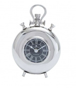 Woodland Import 27857 Nickel Plated Table Clock