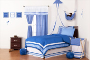 One Grace Place 10-18b121 Simplicity Blue Twin 3 Piece Bedding Set