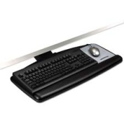3M Commercial Office Supply Div. MMMAKT60LE Adjustable Keyboard Tray- Height Adjusts- 25-.50in.x12in.- Black