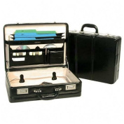 Bond Street 446011BLK Large Leather 5 in.-6 in. Expander Attache Color- Black