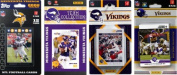 C & I Collectables VIKINGS412TS NFL Minnesota Vikings 4 Different Licenced Trading Card Team Sets