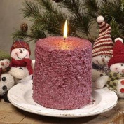 Hearth & Home Traditions 20007 4x4.5 Cake Candle - Cranberry