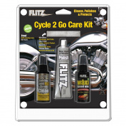 Flitz Cycle 2 Go Care Kit w/Polish, Speed Waxx®, Chrome Clean & Microfiber Cloth