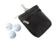 Piel 2143-BLK Black Zippered Valuable Pouch