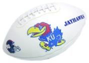 Caseys Distributing 1509957315 Kansas Jayhawks Full Size Embroidered Football
