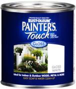 Rust Oleum 1992-502 Painter's Touch Multipurpose Latex Paint-WHITE LATEX PAINT