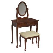 Powell 605-290 Woodland Cherry Vanity Mirror & Bench - Woodland Cherry 605