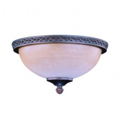 Concord Fans Y-281A-S-ORB Old World 2 Light Fixture Die Cast - Oil Rubbed Bronze