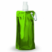Ad-N-Art FB01-LIME Metallic Foldable Water Bottle in Lime