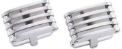 Visol VCUFF707 Borealis Modern Brushed Stainless Steel Cufflinks