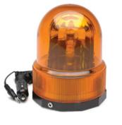 RoadPro RPSC-728 12-Volt Revolving Warning Light with Magnetic Base - Amber Light