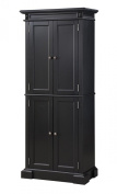 Home Styles 5004-694 Americana Pantry Storage Cabinet, Black Finish