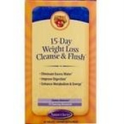 Natures Secret 70205 Natures Secret 15 Day Weight Loss Cleanse and Flush - 1x60 Tab