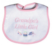 Dee Givens & Co-Raindrops 6632 Grandpas Little Girl Small Bib - Pink