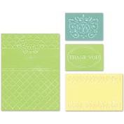 Sizzix 469505 Sizzix Textured Impressions Embossing Folders 4-Pkg-Thank You Set No. 5