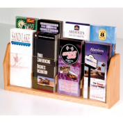 Wooden Mallet LT-8LO Countertop 8 Pocket Brochure Display in Light Oak