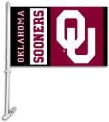 Bsi Products 97119 Car Flag W/Wall Brackett - Oklahoma Sooners