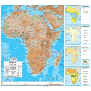 Universal Map 762545496 Africa Advanced Physical Classroom Wall Map On Roller With Backboard