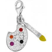 Doma Jewellery DJS01568 Sterling Silver Crystal Charm - Paint Palatte