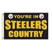 Fremont Die- Inc. 94113B 0.9m x 1.5m Flag W/Grommetts - Pittsburgh Steelers