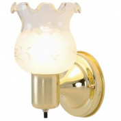 Quality Home Items 671543 Wall Light Fixture, Polished Brass Finish