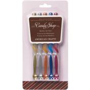 American Crafts 121579 Candy Shop Gel Pen 5-Pkg-Metallic