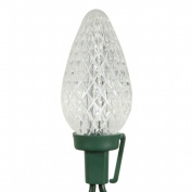 Vickerman 25 ct. Pure White C9 Led Lights with Green Wire 20cm . Spacing