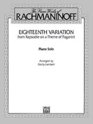Alfred 00-F02064 Eighteenth Variation- Rhapsodie on a Theme of Paganini - Music Book