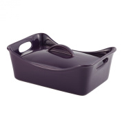 Rachael Ray Casseroles Stoneware 3.3l. Covered Rectangle Casserole in Purple 58410