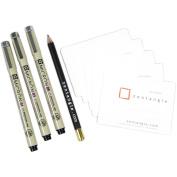 Sakura 50010 9-Piece Zentangle Clamshell Pencil Set