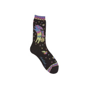 K Bell 85069 Laurel Burch Socks-Playing Dog And Puppy-Black