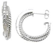 Plutus kke6349 925 Sterling Silver Rhodium Finish Brilliant Cross Antique Style Pave Pendant