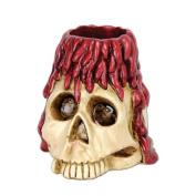 Beistle 00730 Skull and Candle Tea Light Holder
