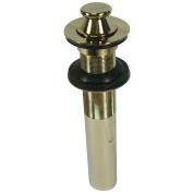 Kingston Brass EV3002 Kingston Lift And Turn Sink Drain Without Overflow - Polished Brass