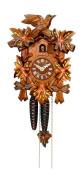 Alexander Taron 522/6 Wind-up Cuckoo Clock in Walnut Finish with Red Flowers