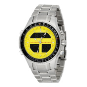 Men 's Digital Alarm Chronograph World Time Yellow Dial - Watch