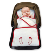 Padiblanket, Baby Stroller or Car Seat Pad and Blanket. Made with Organic Cotton Pique.