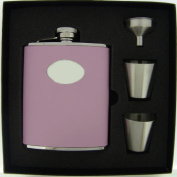 Visol VSET38-1123 Daydream Pink Leather 6oz Deluxe Flask Gift Set