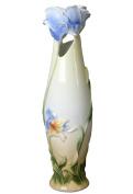 Unicorn Studios AP20014AA White Porcelain Vase - Iris Mouth Butterfly Motif