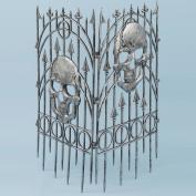 Forum Novelties Inc 30977 Silver Skull Fence