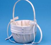 Beverly Clark 59VI Audrey Flower Girl Basket - Ivory