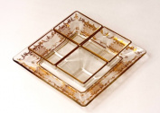 Classic Touch CRGR23 Italian Relish Dish with Gold Artwork
