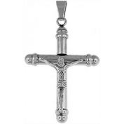 Doma Jewellery DJS01121 Stainless Steel Pendant and Extension Leather Necklace