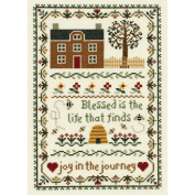 Janlynn 21-1391 Joy In The Journey Counted Cross Stitch Kit-7-3-10cm . x 11-1-10cm . 14 Count